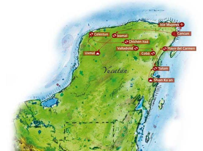 Circuito Yucatan : Circuito en bici yucatán tour méxico turismo